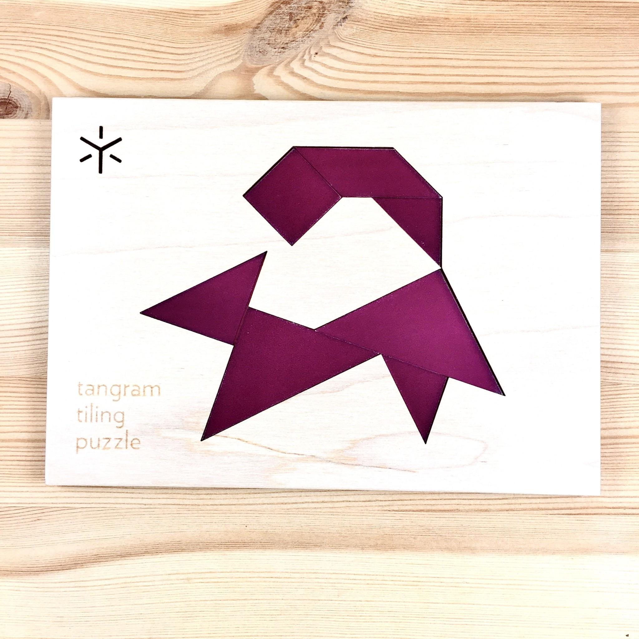 Bright Beam Goods (Make ATX) Squirrel Tangram Tiling Puzzle