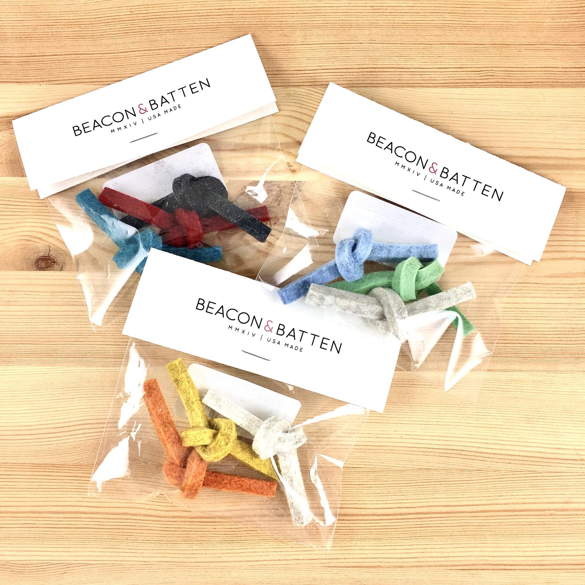 Beacon & Batten Felt Twist Cat Toys - Set of 3