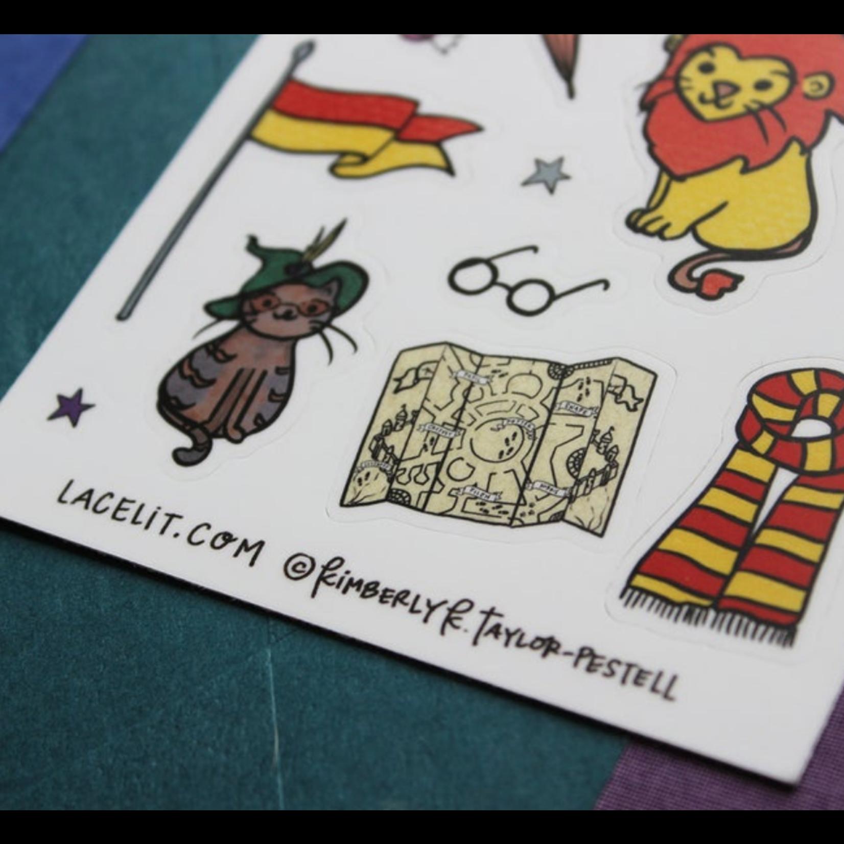 Lacelit (APO) Gryffinhouse Vinyl Sticker Sheet