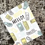 Big Wheel Press Hello Phones Greeting Card