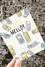 Big Wheel Press Hello Phones Greeting Card