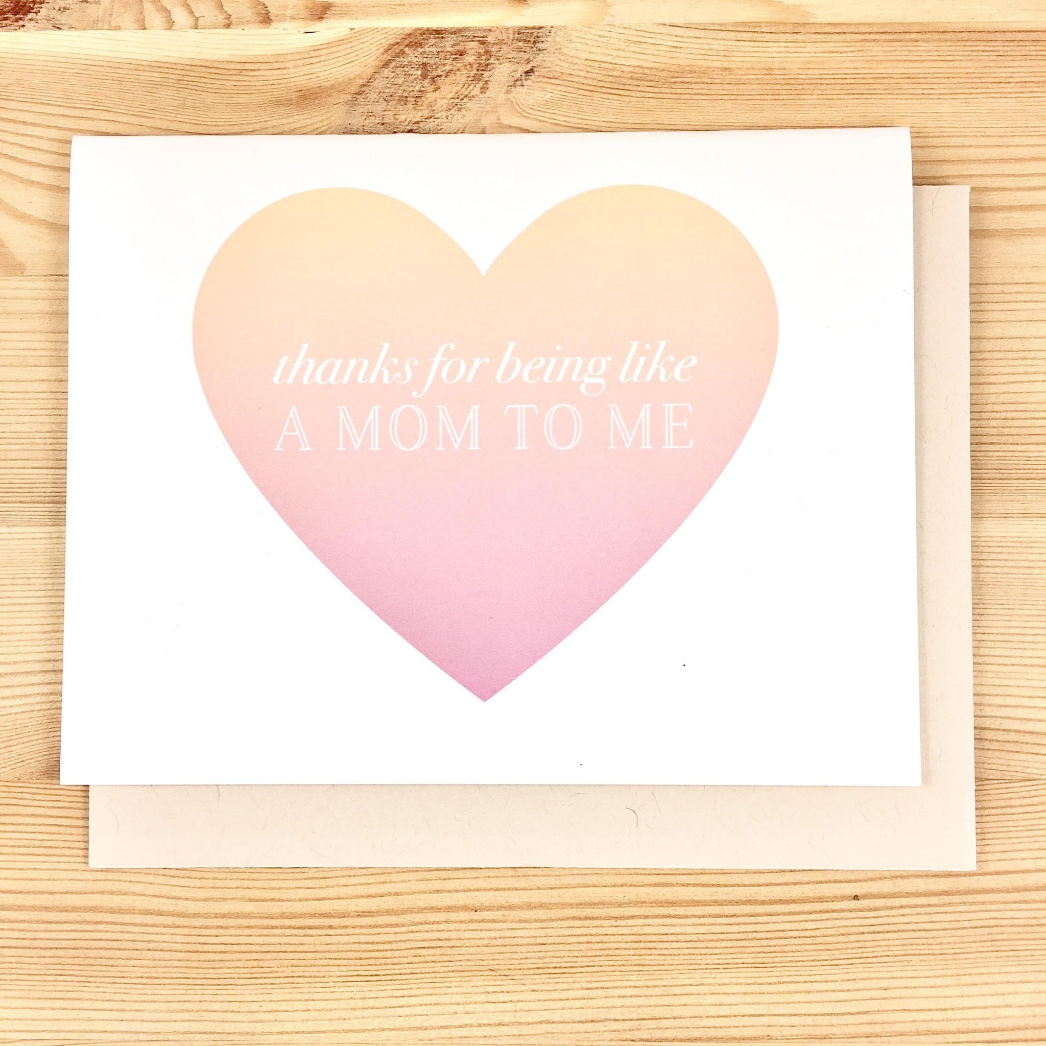 Pearl & Marmalade Like A Mom To Me Greeting Card