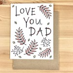 Lacelit Love You, Dad Ferns Greeting Card