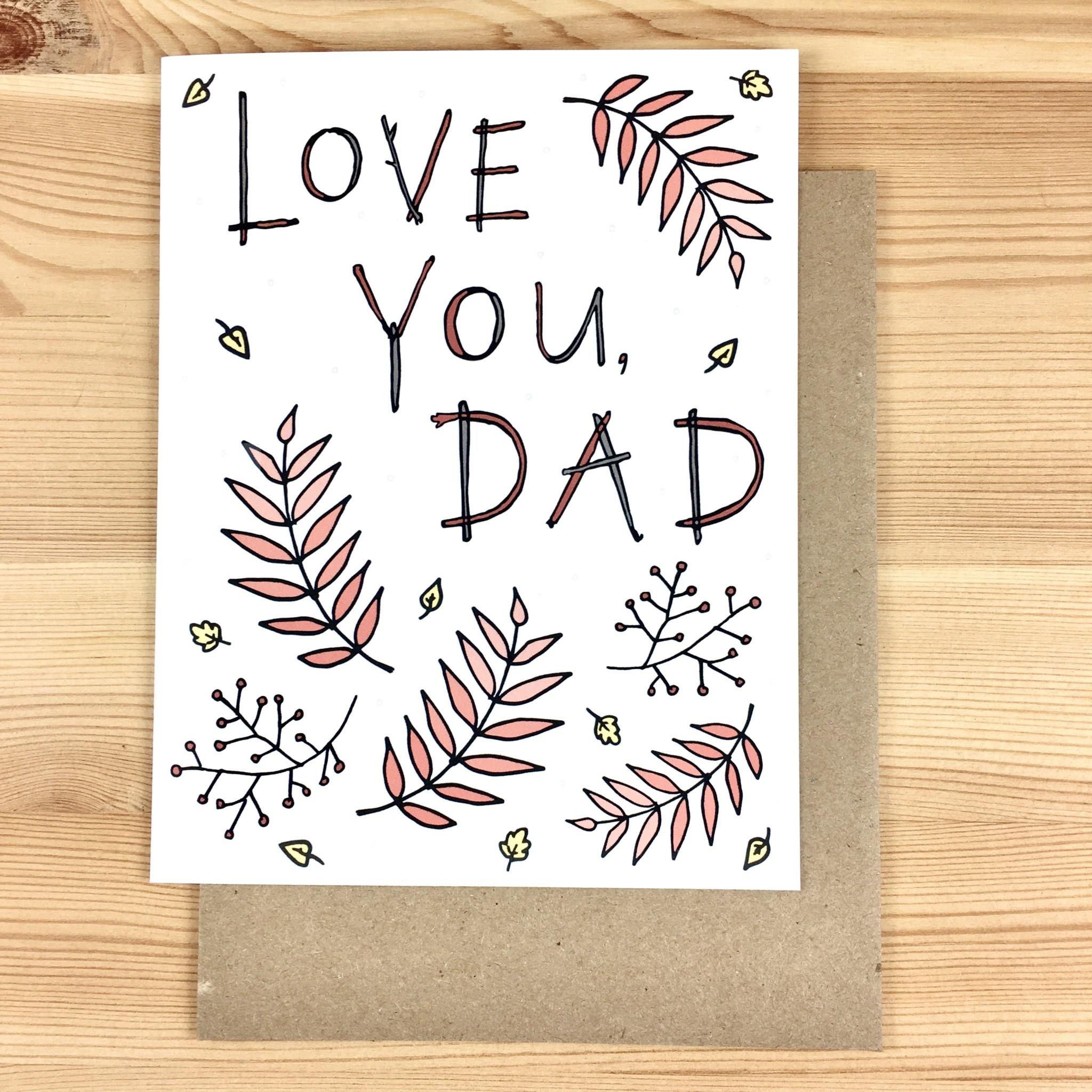 Lacelit Love You, Dad Ferns Greeting Card