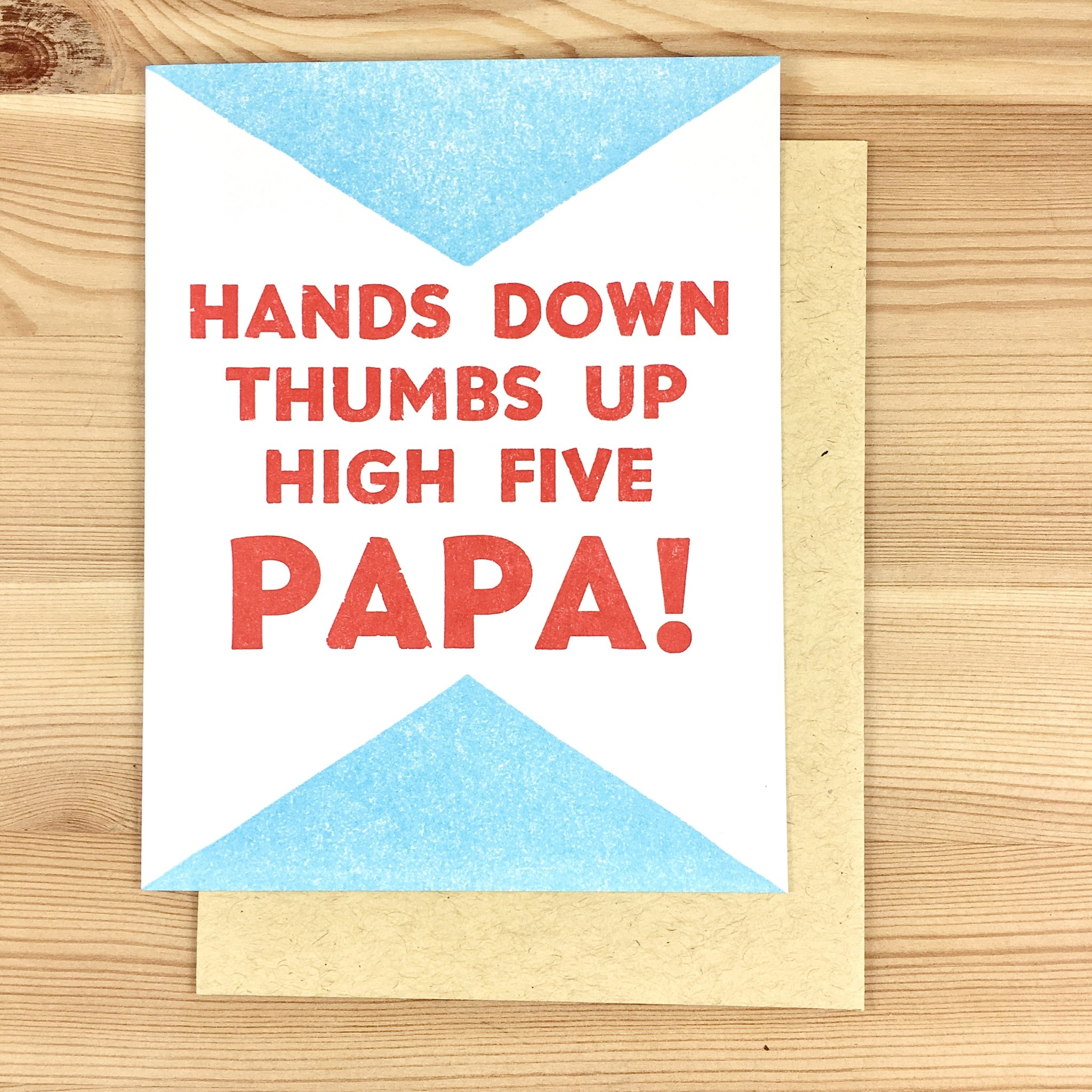 Questionable Press Hands Down Papa Greeting Card