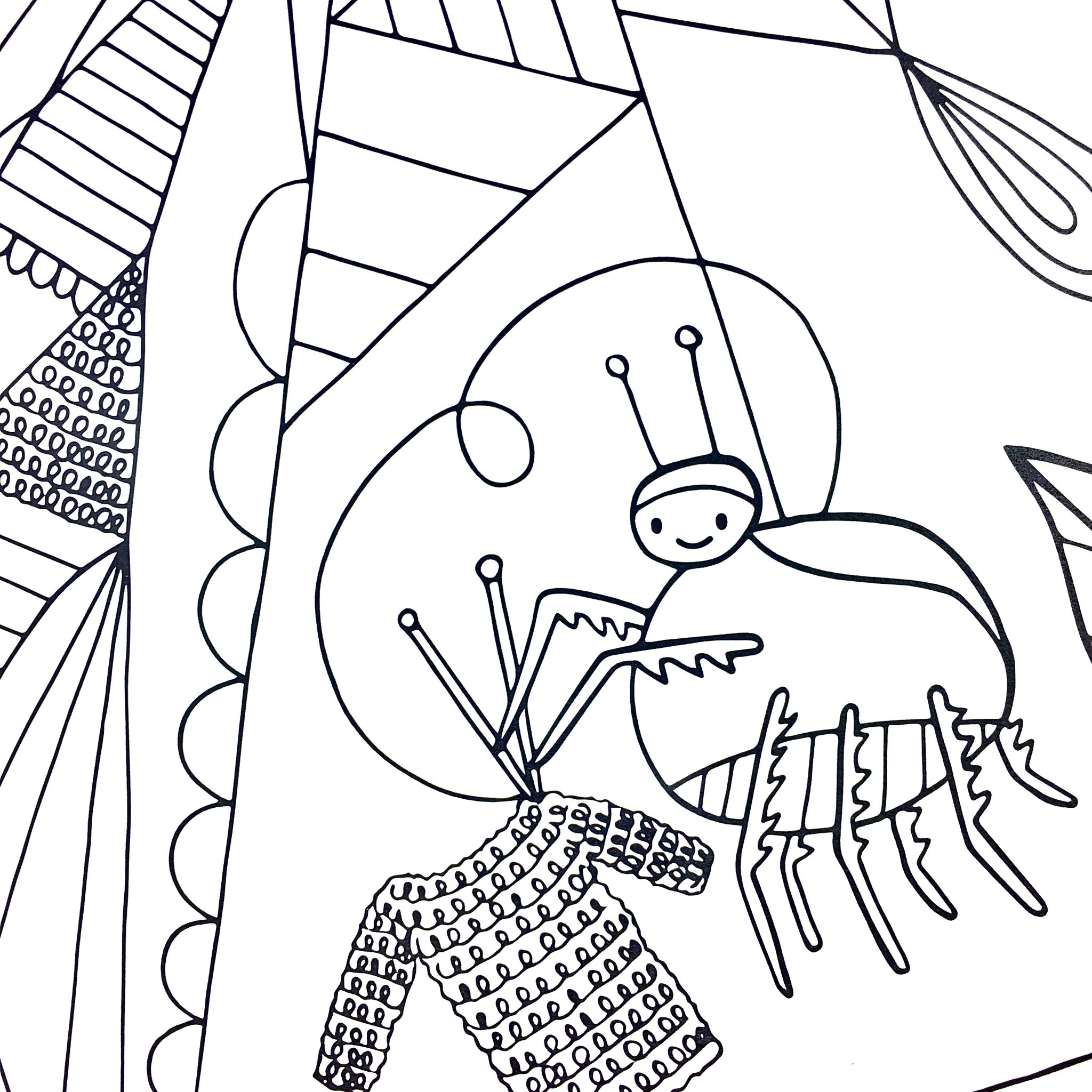 Cordial Kitten Imaginary Bugs Coloring Book