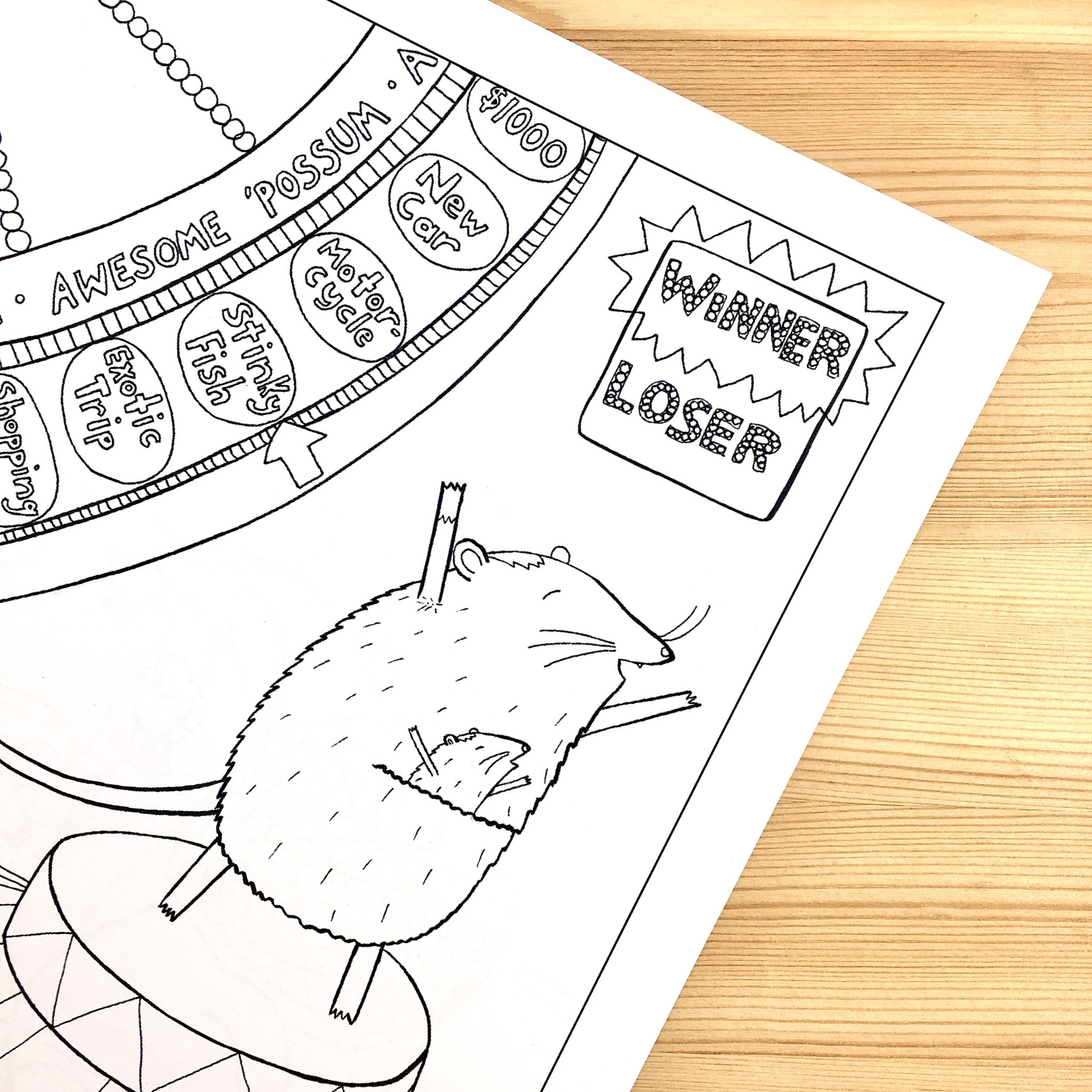 Cordial Kitten Animals with Jobs Coloring Book