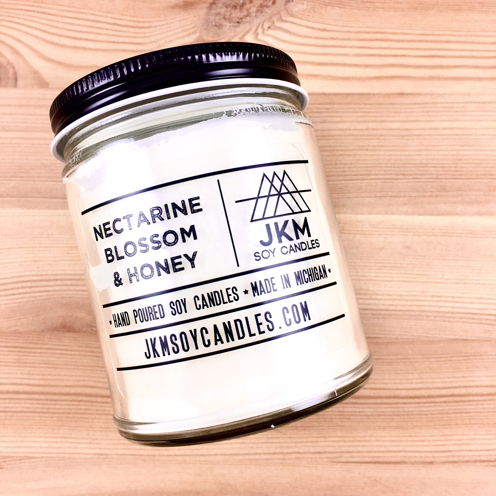 JKM Soy Candles BW: Nectarine Blossom + Honey Soy Candle