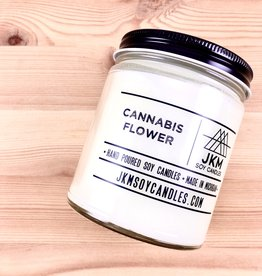 JKM Soy Candles BW: Cannabis Flower Soy Candle