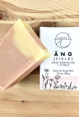 Landet Studio / KoenigCo. / Sunshine Raindrop Field (Ang): Rose Geranium + Citrus Bar Soap