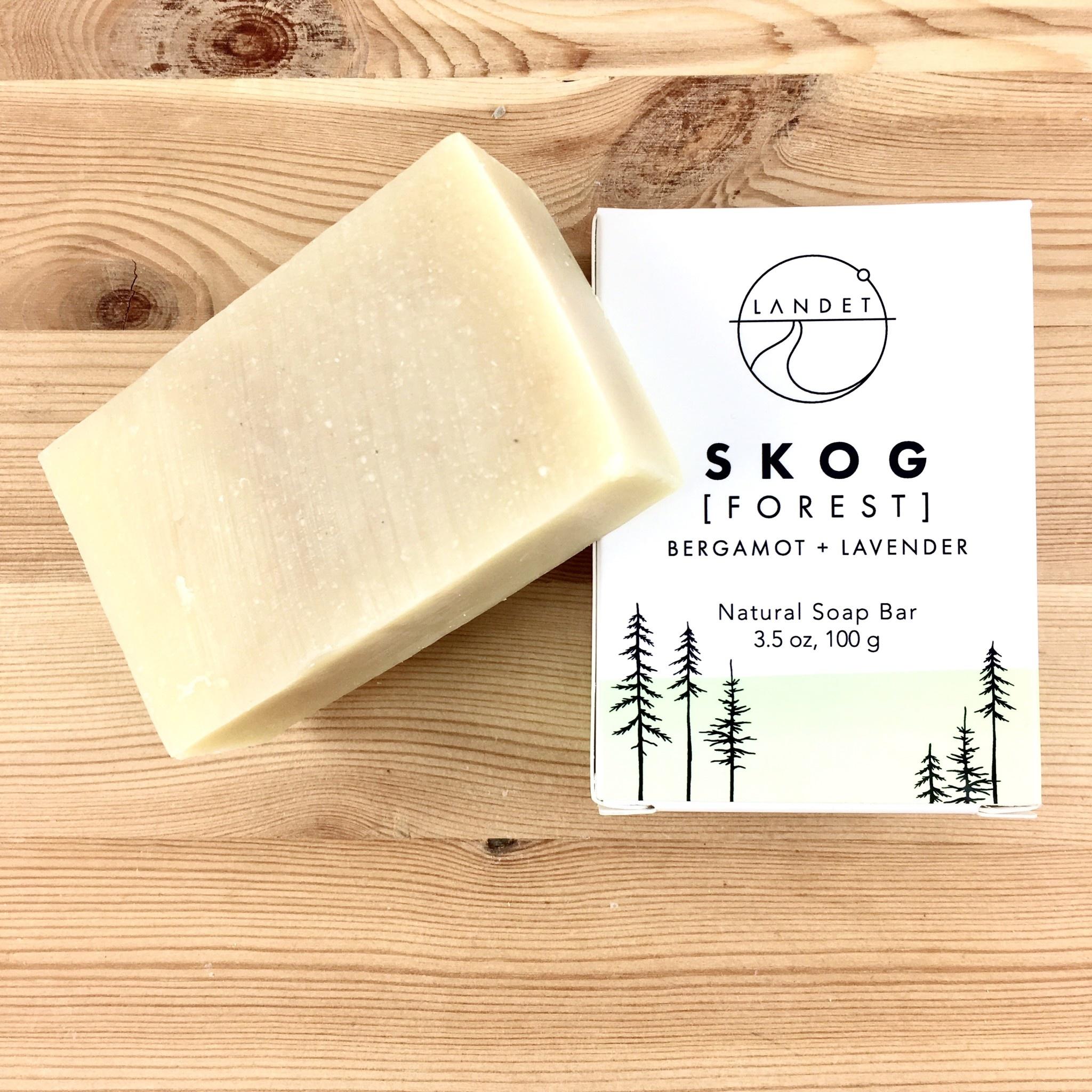 Landet Studio / KoenigCo. / Sunshine Raindrop Forest (Skog): Bergamot Lavender Bar Soap