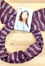 Little Minnow Designs Vines On Plum: Twist Hair Scarf