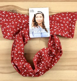 Little Minnow Designs Checkmarks On Red: Twist Hair Scarf