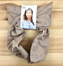 Little Minnow Designs Seaspray On Khaki: Twist Hair Scarf