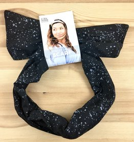 Little Minnow Designs Seaspray On Black: Twist Hair Scarf