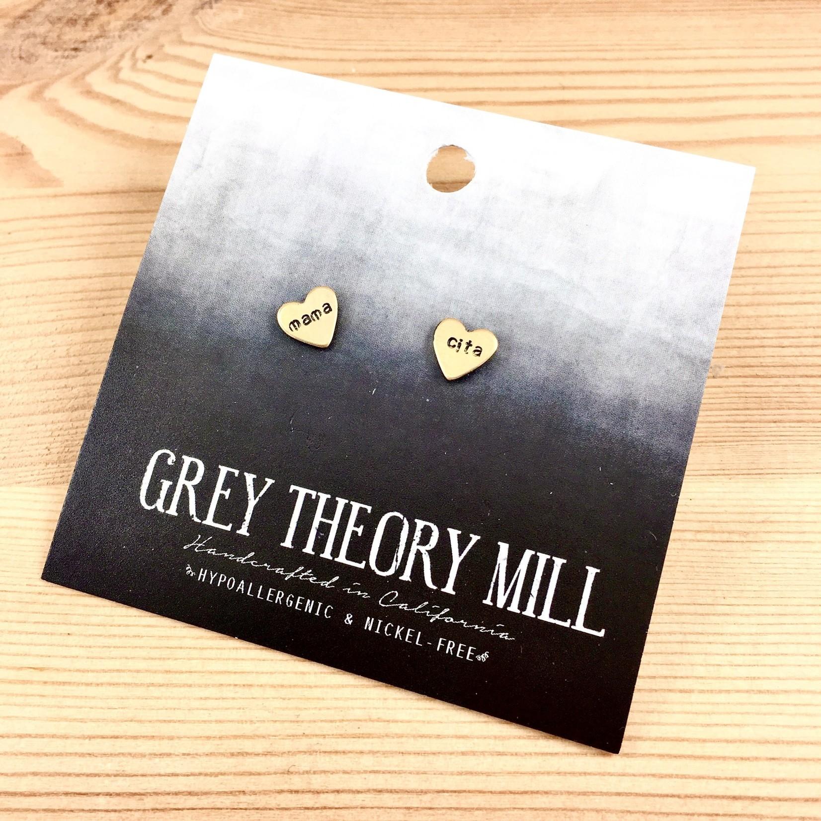 Grey Theory Mill Mama-Cita Stud Earrings