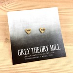 Grey Theory Mill Mama Bird Stamped Stud Earrings