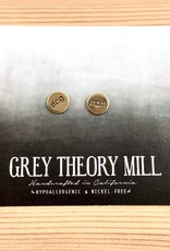 Grey Theory Mill Dog Mom Stamped Stud Earrings