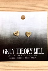 Grey Theory Mill Fur Mama Stamped Stud Earrings