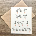 Big Wheel Press Badass Mom Semaphore Greeting Card