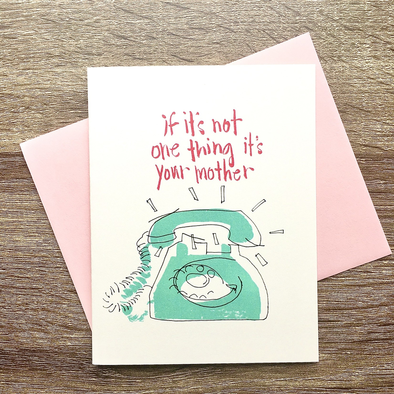 An Open Sketchbook It's Your Mother Phone Greeting Card