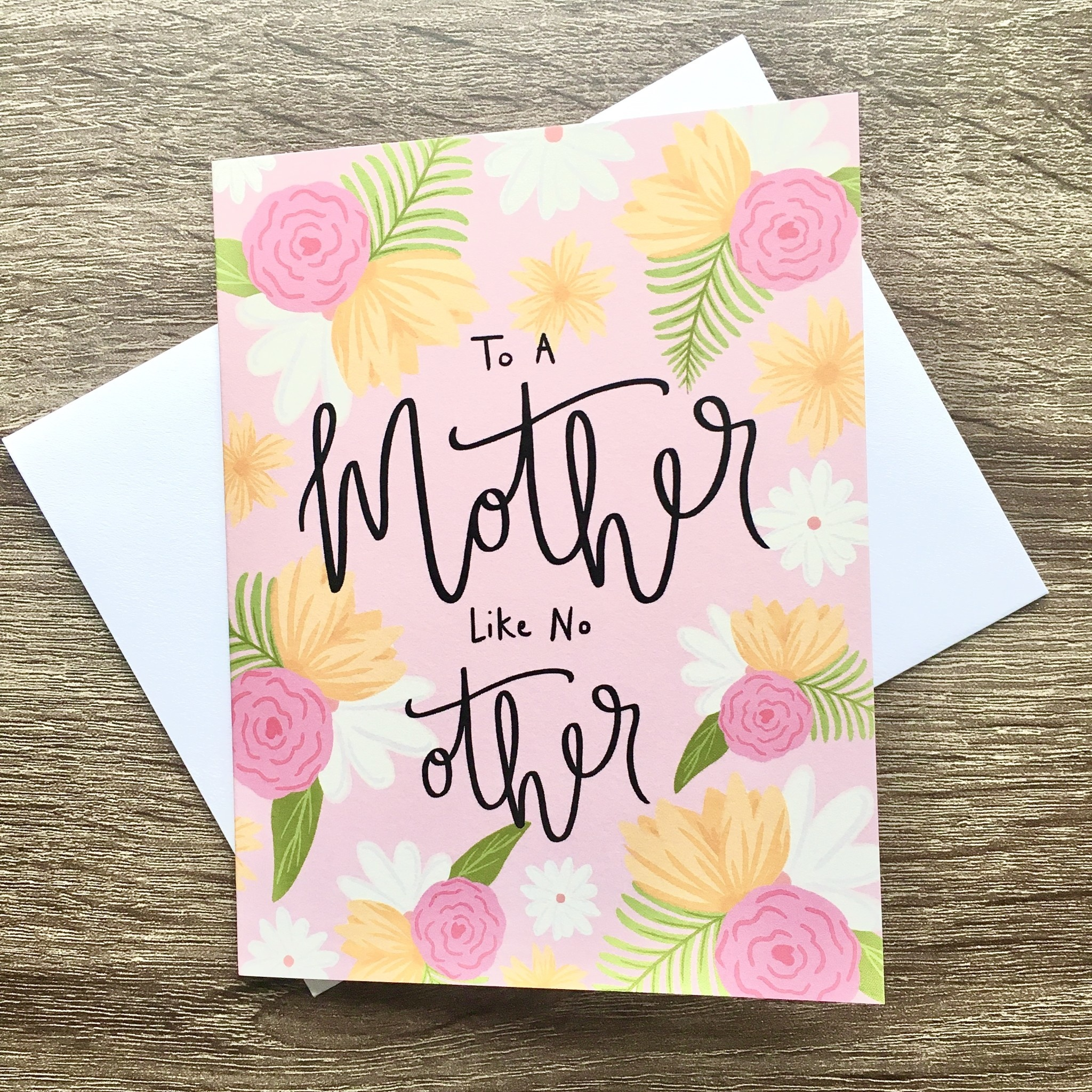 Bloomwolf Studio Mother Like No Other Floral Greeting Card
