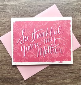 An Open Sketchbook So Thankful Mother Greeting Card