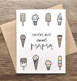 Lacelit One Cool Mama Ice Cream Greeting Card