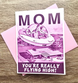 Alternate Histories Mom Flying High Greeting Card