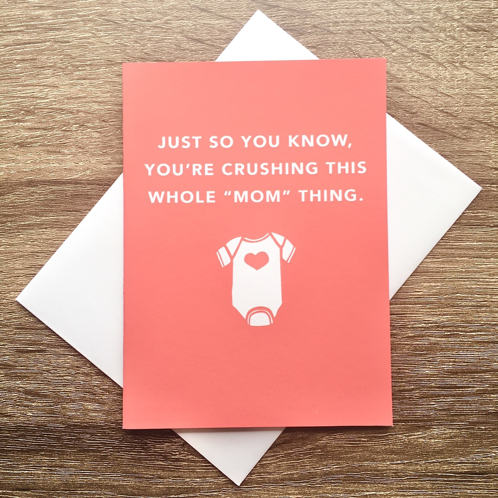 Exit343Design Crushing This Mom Thing Greeting Card