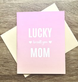 Pearl & Marmalade Lucky Mom Ombre Greeting Card