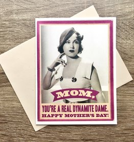 Alternate Histories Dynamite Dame Mother's Day Greeting Card