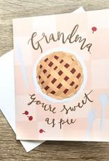 Bloomwolf Studio Grandma Sweet As Pie Greeting Card