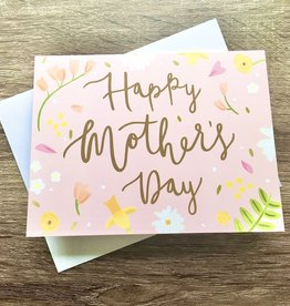Bloomwolf Studio Peach Mother's Day Greeting Card