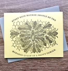 JustAJar Design Press Queen Bee Greeting Card