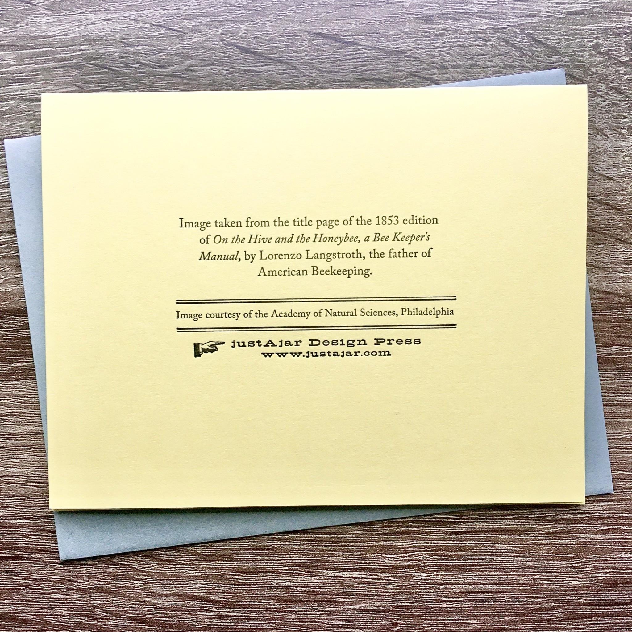 JustAJar Design Press Queen Bee Greeting Card