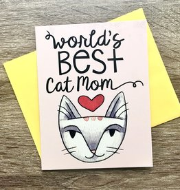 Cat People Press World's Best Cat Mom Greeting Card