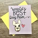 Cat People Press World's Best Dog Mom Greeting Card