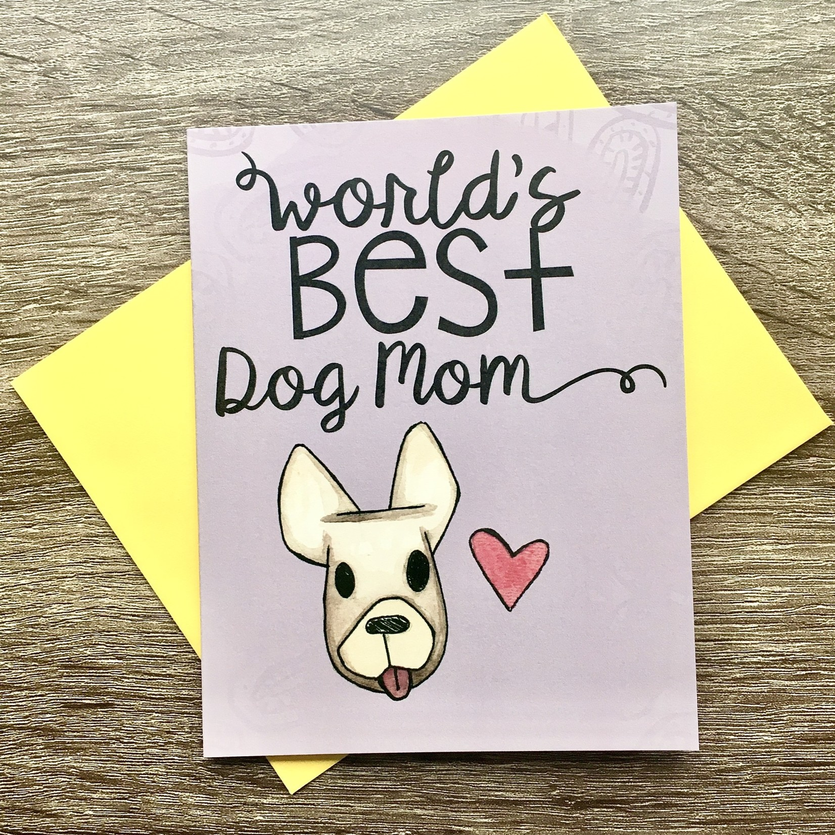 Cat People Press World's Best Dog Mom Greeting Card