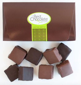 The Best Chocolate In Town Milk + Dark Chocolate Turtle Squares 8pc. Box