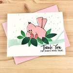An Open Sketchbook Mama Bird Thank You Greeting Card