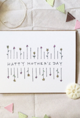 Lacelit Mother's Day Simple Flowers Greeting Card