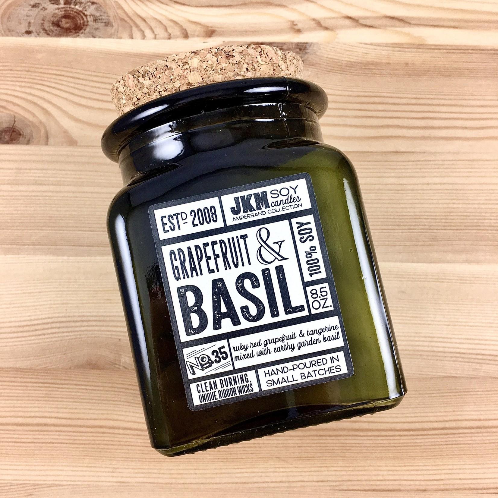 JKM Soy Candles AC: Grapefruit & Basil Soy Candle