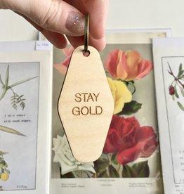 Savvie Studio Stay Gold Key Fob