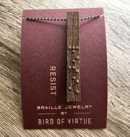 Bird of Virtue Rose-Resist: Unity Collection Braille Necklace