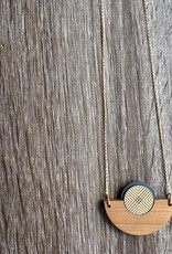 Bird of Virtue Ilsa Cherry (Azul-Soft Gold) Gold Necklace