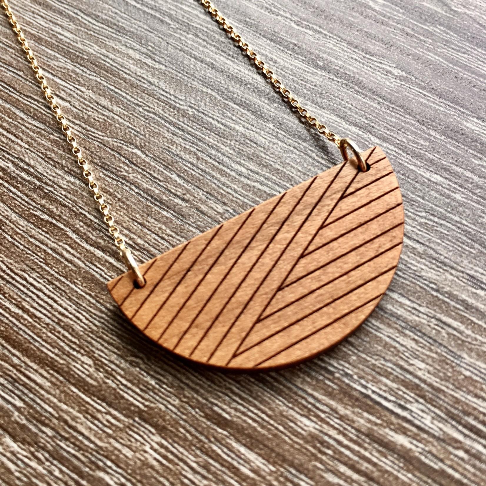 Bird of Virtue Alta Cherry (Soft Gold) Gold Necklace