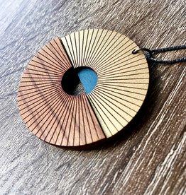 Bird of Virtue Sunrise Cherry (Azul-Sea-Soft Gold) Necklace