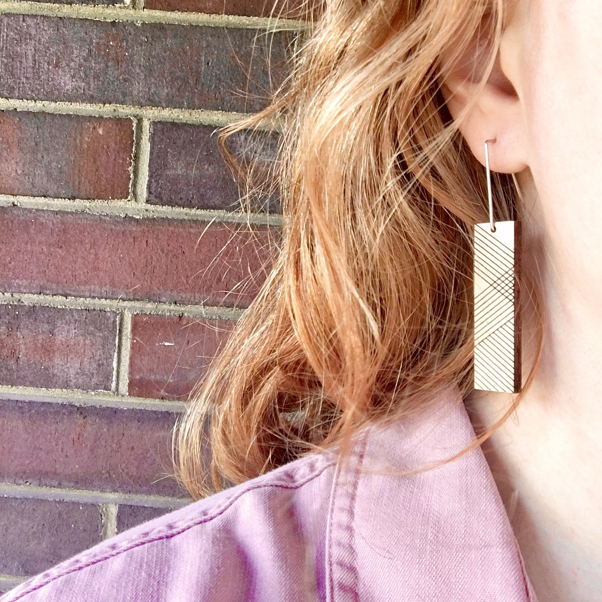 Bird of Virtue Thora Walnut (Rose Gold) Earrings