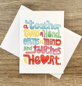 Quiet Boy Studio Teacher Takes A Hand Greeting Card